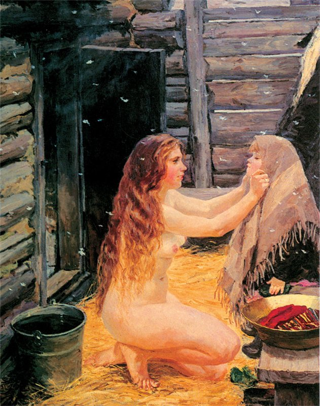 Девочка в русской бане фото 300-504