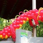 новогодний Дракоша из шариков