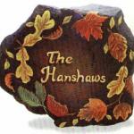 декоративная плита с орнаметов из листьев