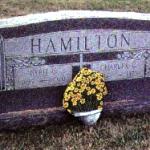 каменные цветы на могилке