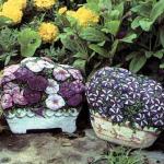 каменный цветочные вазоны