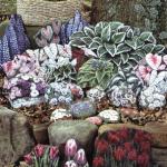 цветочная композиция из камней