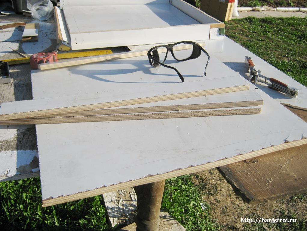 Изготовление формы для бетонной тротуарной плиты