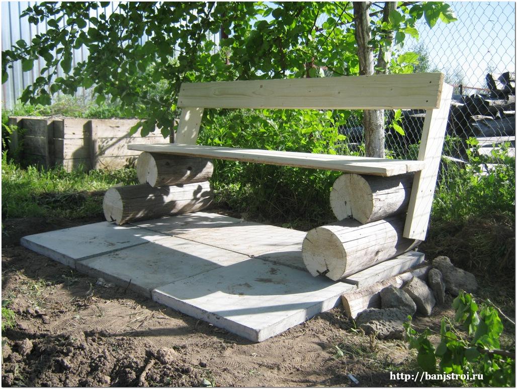Как сделать скамейки на даче своими руками фото 194