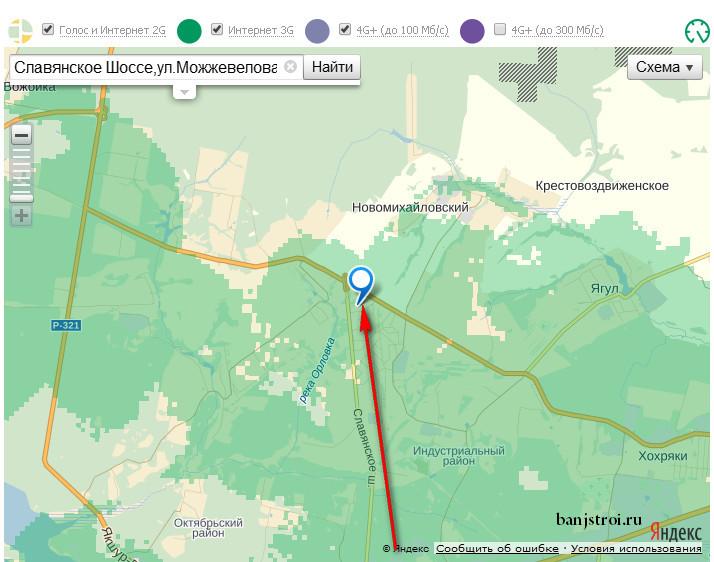 Карта покрытия 3g Мегафон
