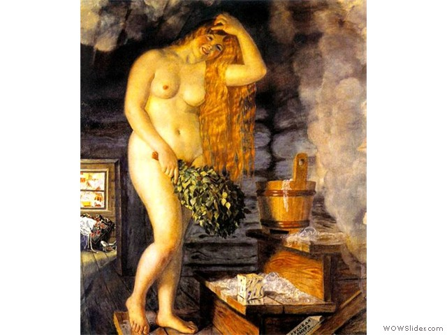 Б.М.Кустодиев.Русская Венера.1925-1926г