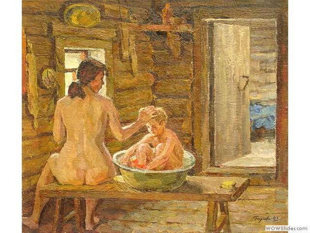 Валерий Родионов В бане 1993 г.